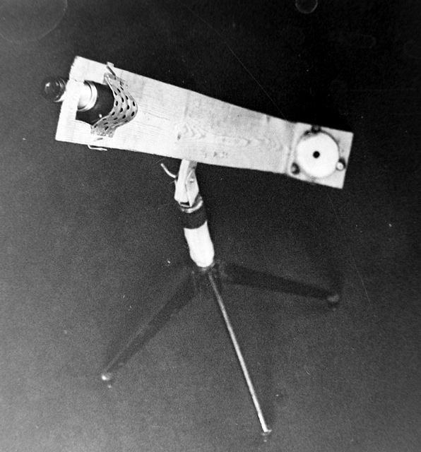 Первый вариант деревянного телескопа.